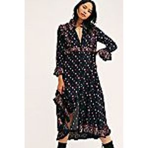 Free People Calico Skies Midi Dress Small Prairie